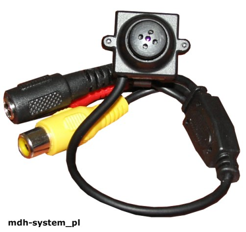 Mini kamera  CCTV 380 TVL 2 lux, obiektyw 5,5 mm guzik, AUDIO, CS700