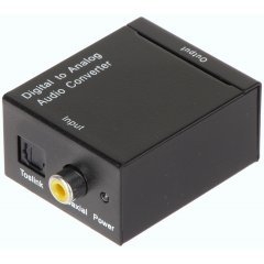 KONWERTER AUDIO DIGITAL Optical TOSLINK ANALOG DA/AU-AK
