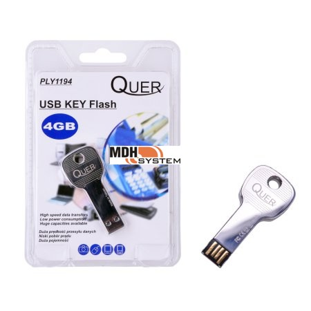 PENDRIVE USB UKRYTY KLUCZYK  Flash 4GB Quer